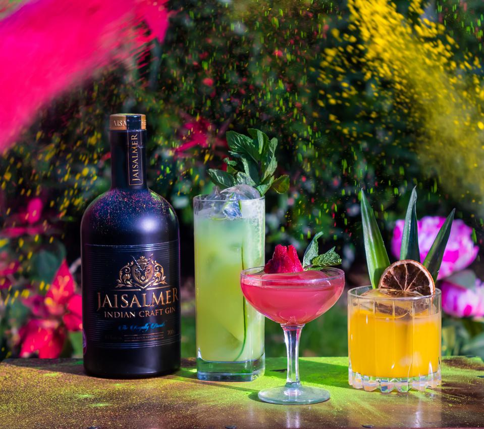 Celebrate Holi With These Colorful Cocktails Made With Indian Gin