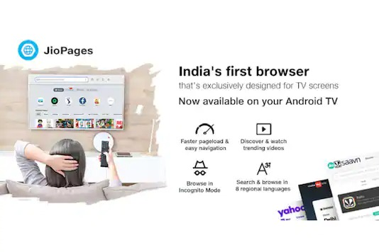 JioPages Browser Launched on Android TV With Curated Videos, Private Mode and More